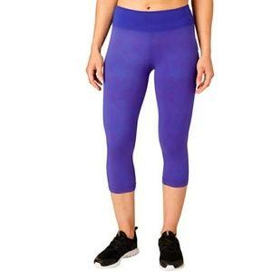 Reebok L, Royal Purple Capri Legging